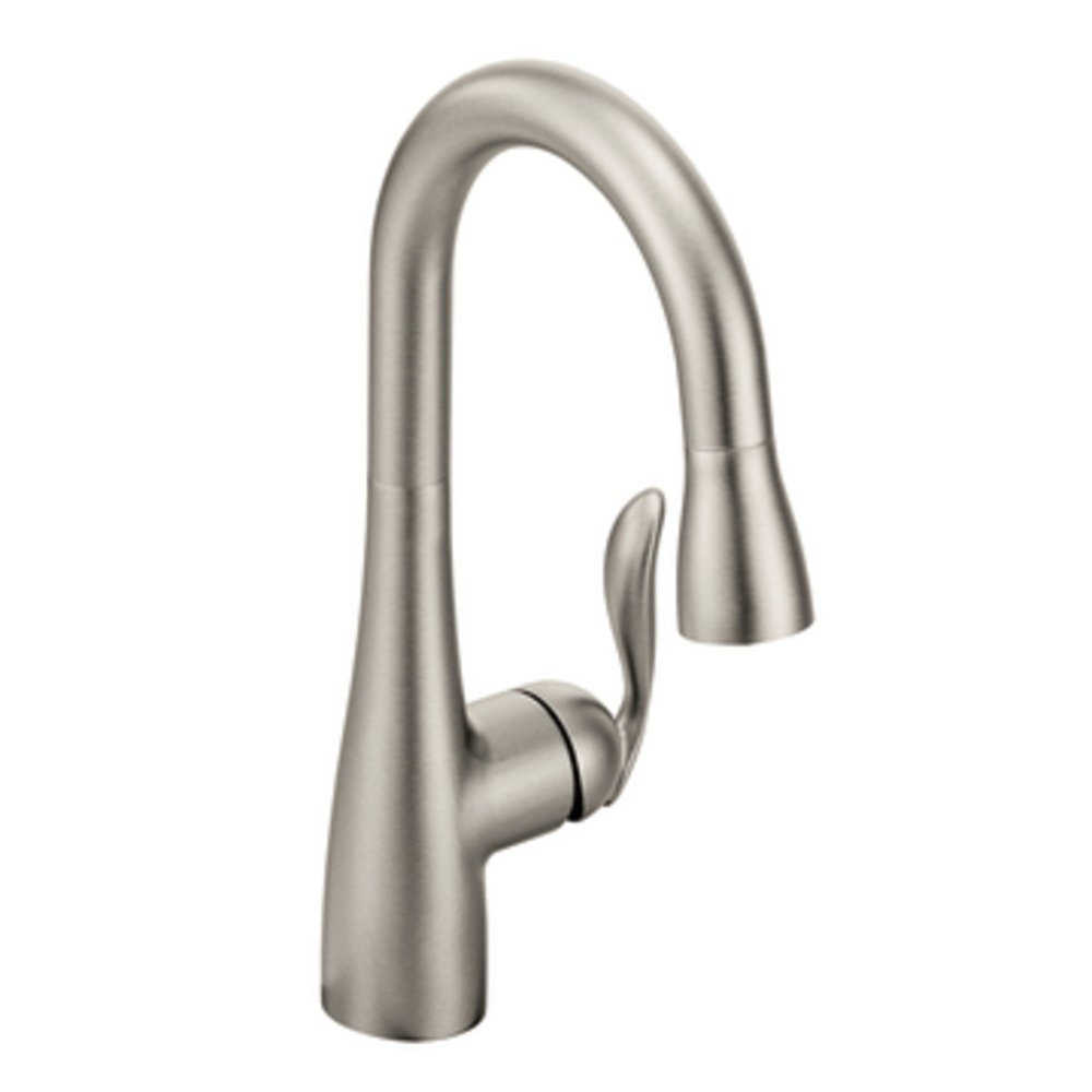 Moen 5995CSL Arbor One-Handle High Arc Pulldown Bar Faucet Featuring ...