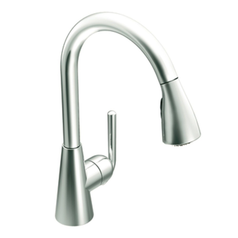 The Contemporary Ascent Kitchen Faucet In Chrome ...
