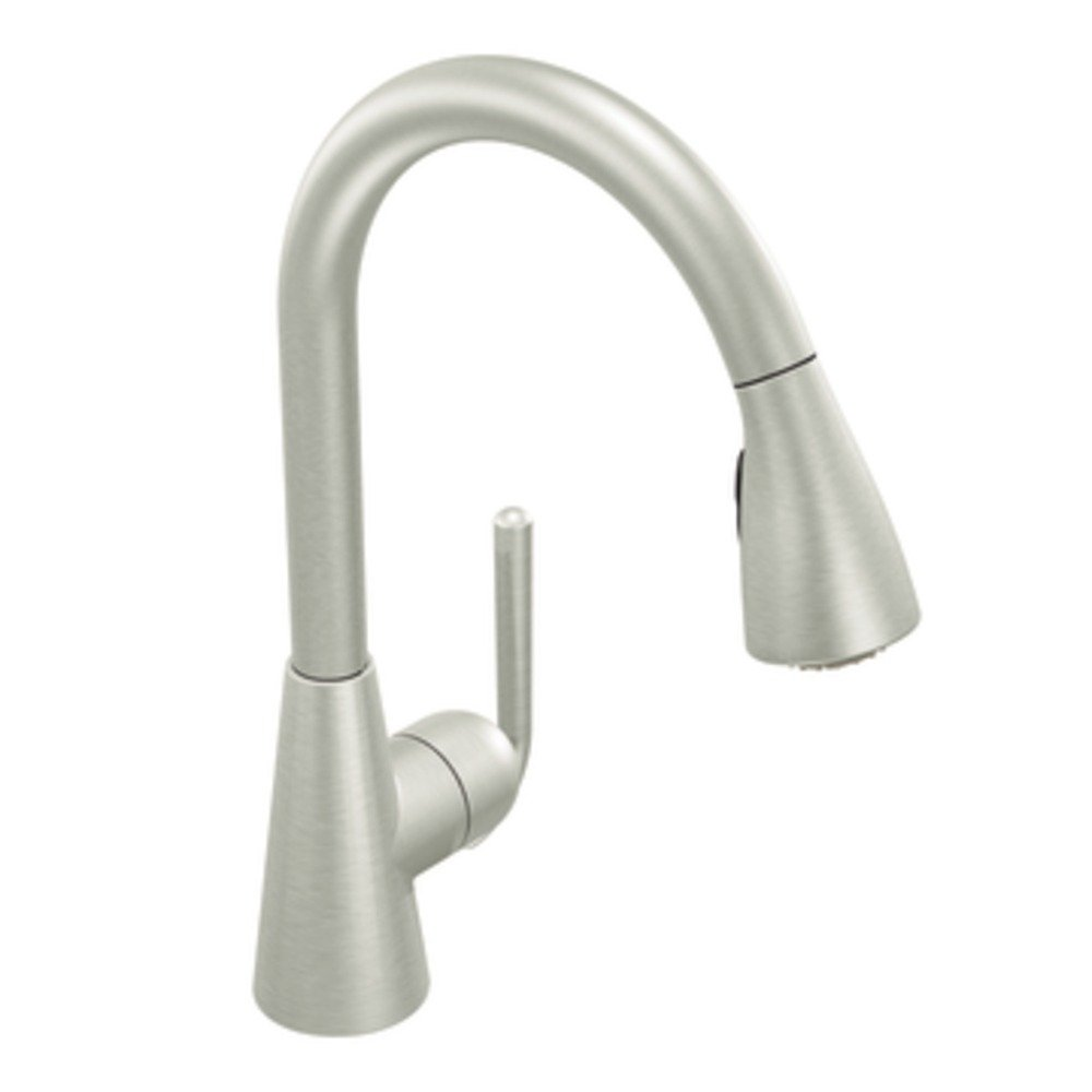 BCJZVJI moen kitchen faucet The contemporary Ascent kitchen faucet in classic stainless view larger