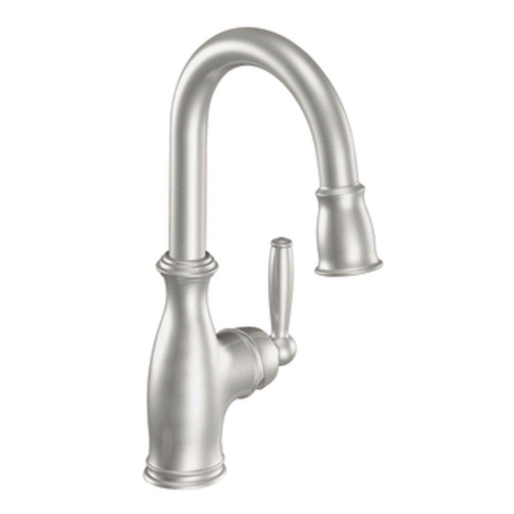 Moen 5985CSL Brantford One-Handle High Arc Pulldown Bar Faucet ...
