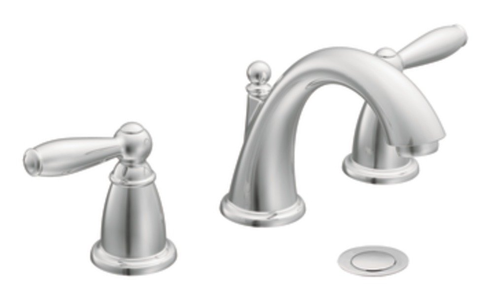 Moen T6620 Brantford Two Handle Low Arc Widespread Bathroom Faucet Without Valve