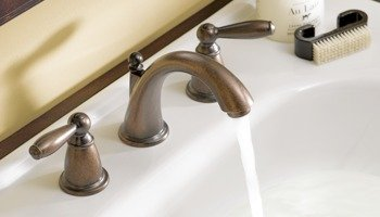 Moen Brantford Two Handle Low Arc Widespread Bathroom Faucet Without