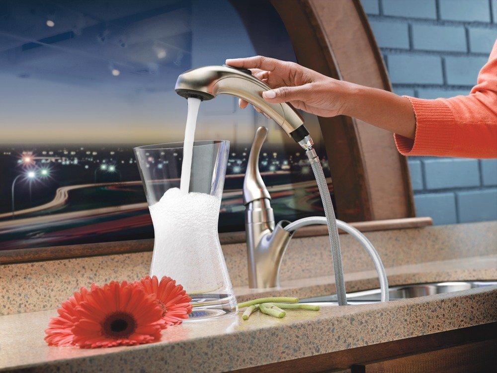Moen 67315CSL Integra Low Arc Pullout Kitchen Faucet, Classic ...