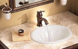 Moen 6102wr Kingsleyone Handle Traditional Bathroom Sink