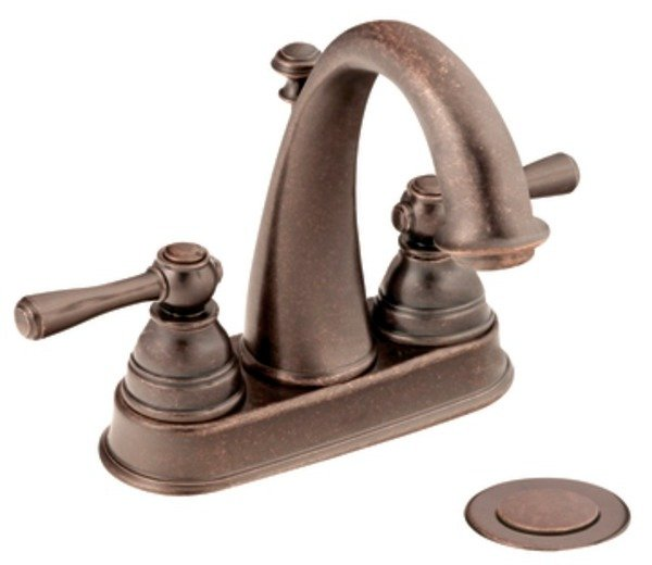 Moen 6121orb Kingsley Two Handle High Arc Bathroom Faucet Oil Rubbed Bronze Touch On Bathroom