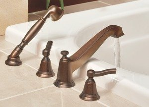 Moen TS925 Rothbury Two-Handle Low Arc Roman Tub Faucet and Hand ...