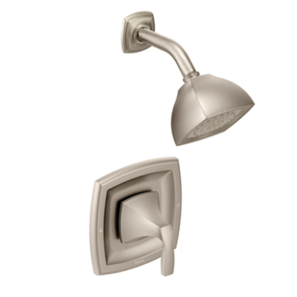 Moen t2692epbn voss posi temp shower only faucet brushed nickel tub and shower faucets - Moen shower faucet ...