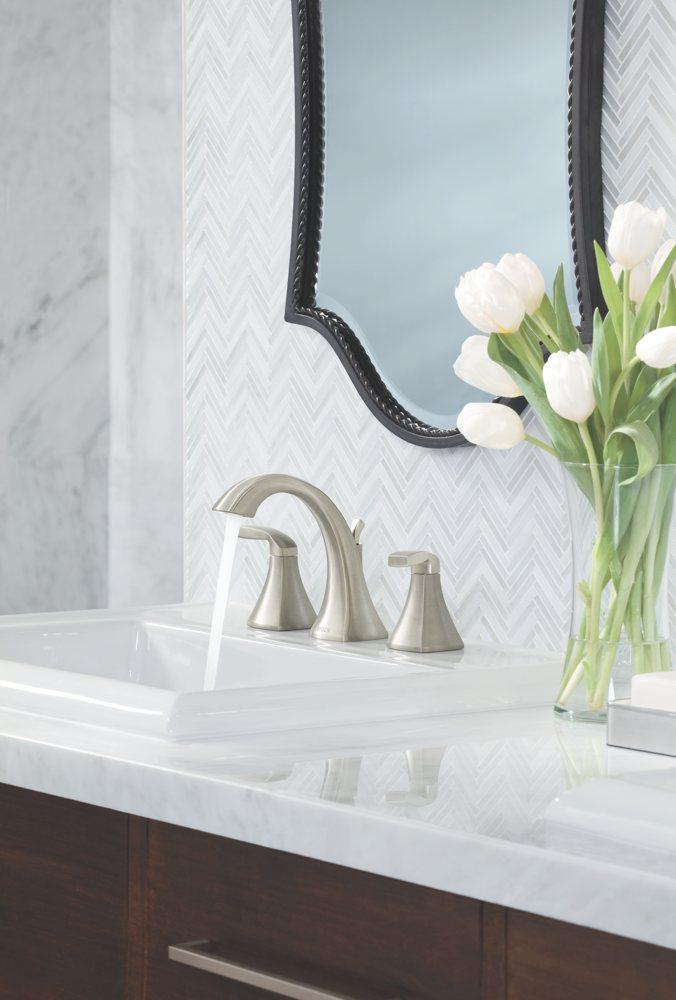 Moen Voss Two Handle High Arc Widespread Bathroom Faucet