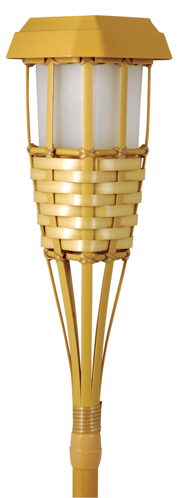 Amazon Com Moonrays 91206 Solar Powered Tiki Torch Led
