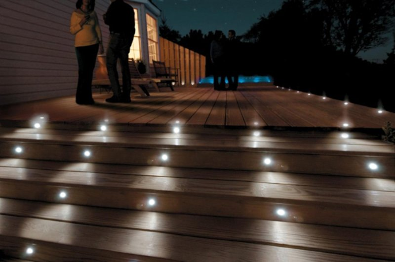 Paradise GL28100 Low Voltage Stainless Steel LED Deck Light Kit (6W