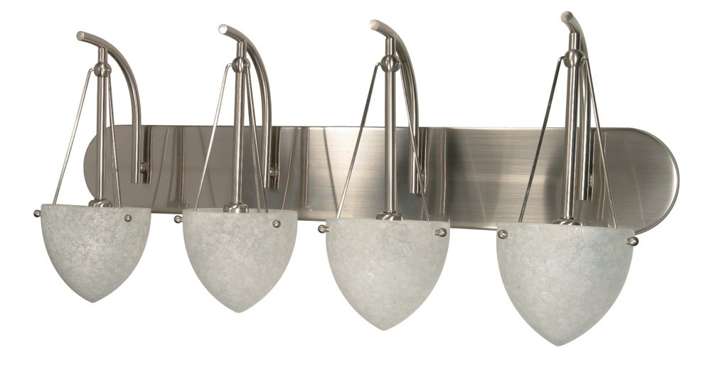 Nuvo 60 137 Four Light Vanity With Water Spot Glass