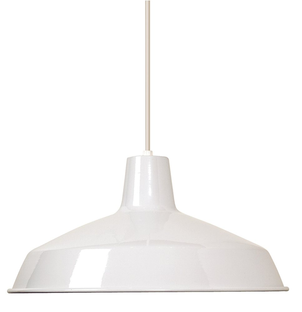 Nuvo Lighting SF Warehouse Shade White Pendant Lighting - Kitchen pendant lighting amazon