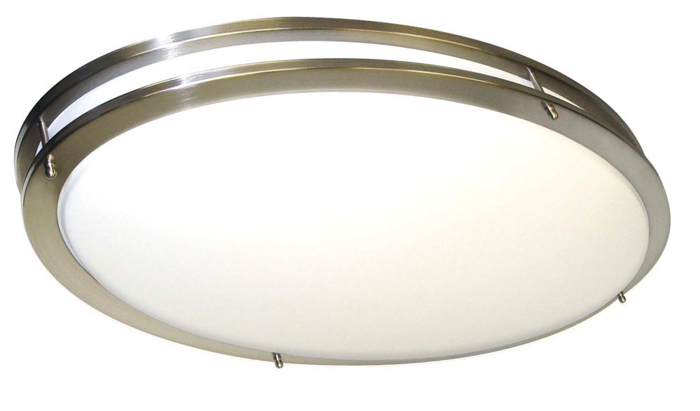 Nuvo 60 998 Glamour Oval Brushed Nickel Close To