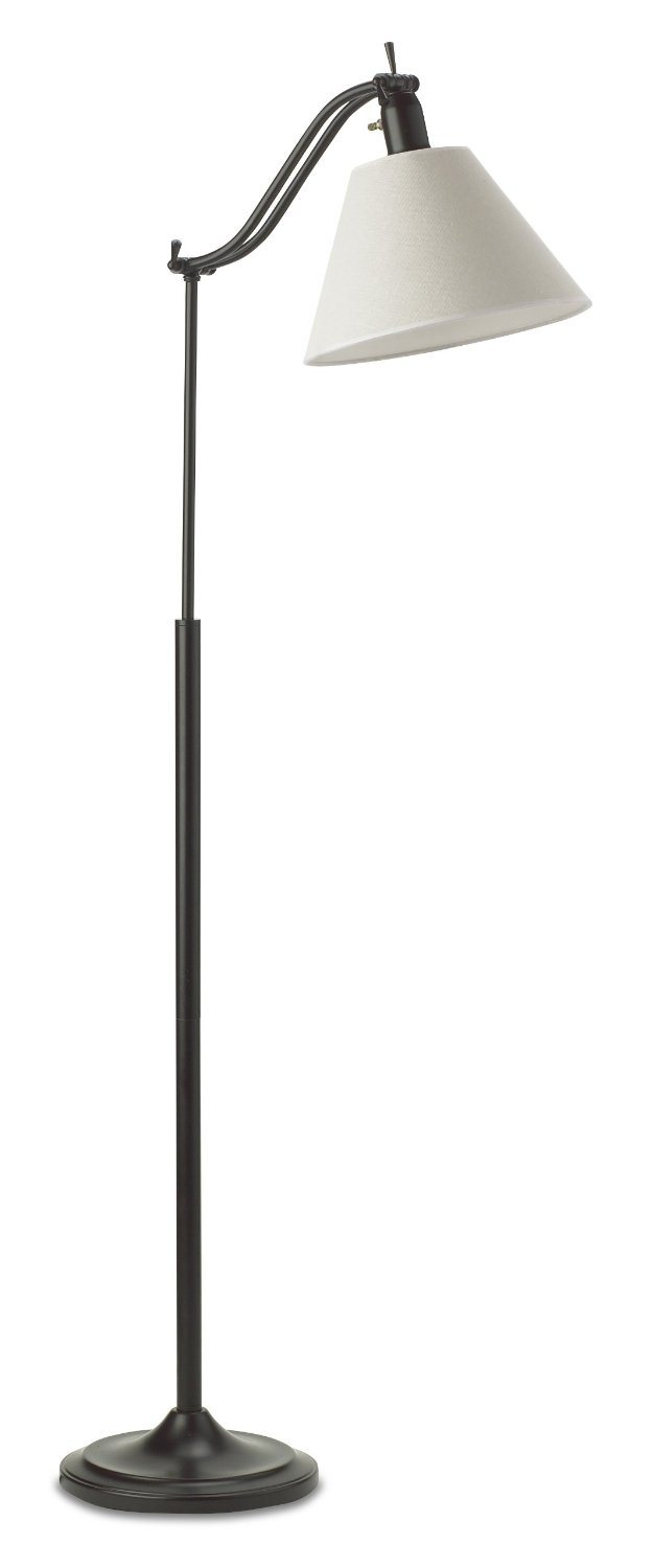 OttLite 20M15BZD-SHPR 20-watt Marietta Floor Lamp, Antiqued Bronze ...