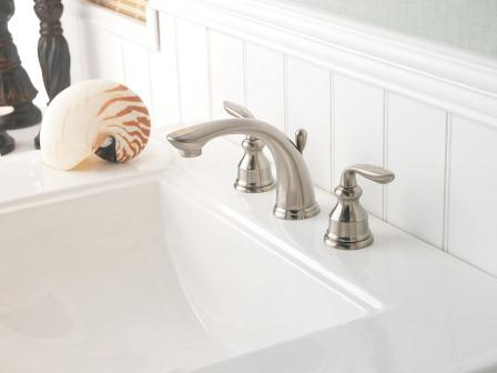 Pfister Gt49cb0k Avalon Two Handle 8 Inch Widespread Bathroom Faucet In Brushed Nickel Touch