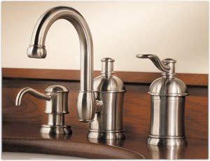 Superbe Amherst 8 Inch Nickel. Includes Matching Soap Dispenser