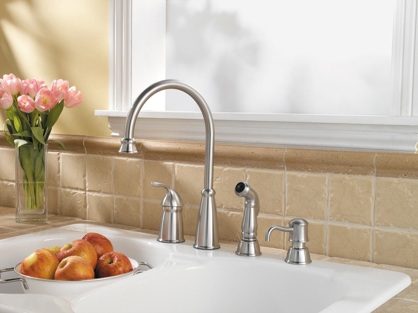 Ordinary Kitchen Faucet Soap Dispenser #3: Avalon Stainless Kitchen. Includes Matching Soap Dispenser ...