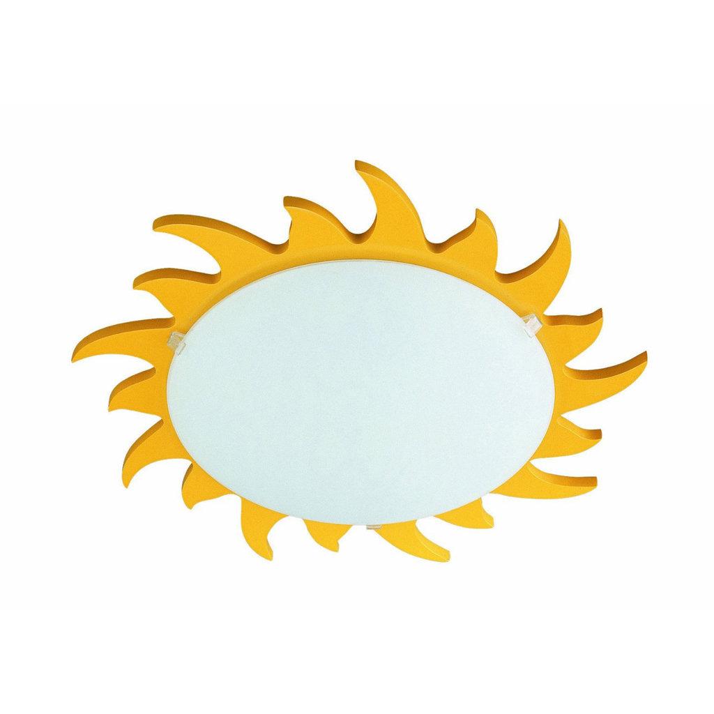 Philips 706140648 kidsplace sun flushmount ceiling or wall light kidsplace flush mount sun light arubaitofo Gallery