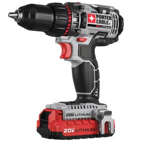 Porter-Cable PCCK600LB 20-volt max 1/2-inch lithium-ion drill-driver kit