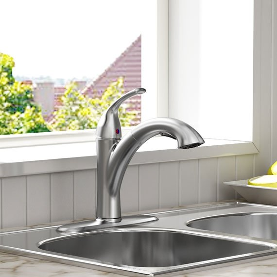 American Standard 4433.100.075 Quince Pull-Out Kitchen Faucet ...