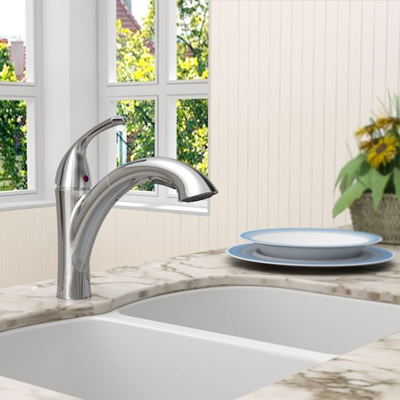 American Standard 4433.100.075 Quince Pull-Out Kitchen Faucet