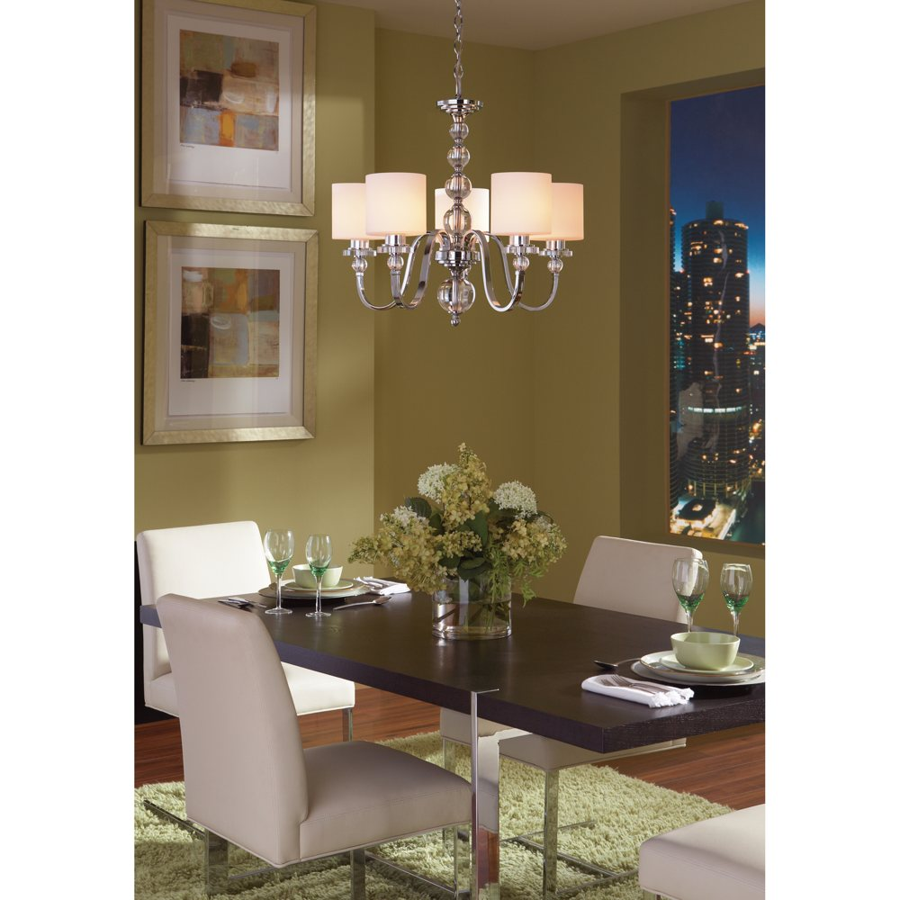 Quoizel Dw5005c Downtown 5 Light Chandelier Polished