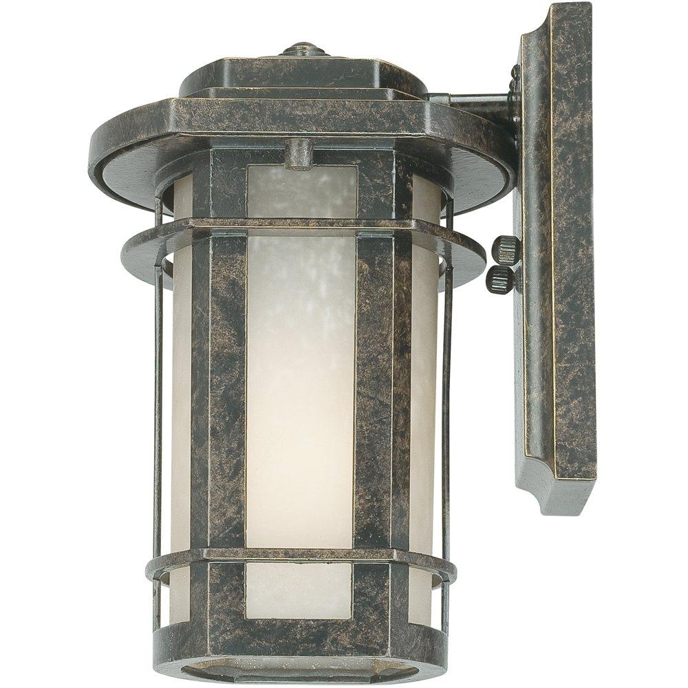 Outdoor Lamp Post Amazon: Quoizel GLN8407IB 1-Light Galen Outdoor Lantern In