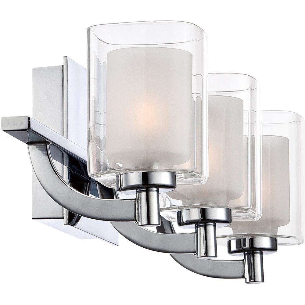 Three Light Bathroom Vanity Light: Quoizel KLT8603CLED Kolt Bath Fixture 3 Light Polished Chrome