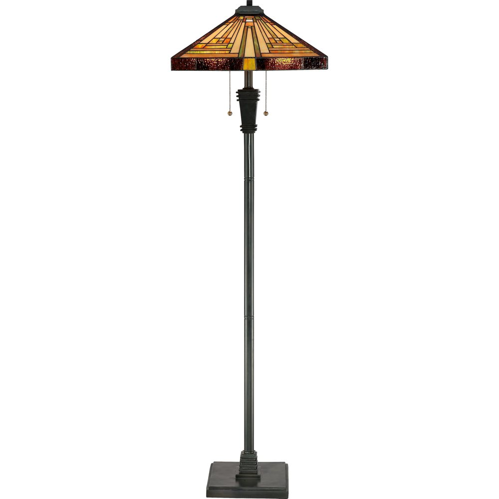 Quoizel tf885f 2 light stephen floor lamp in vintage bronze amazon mozeypictures Image collections