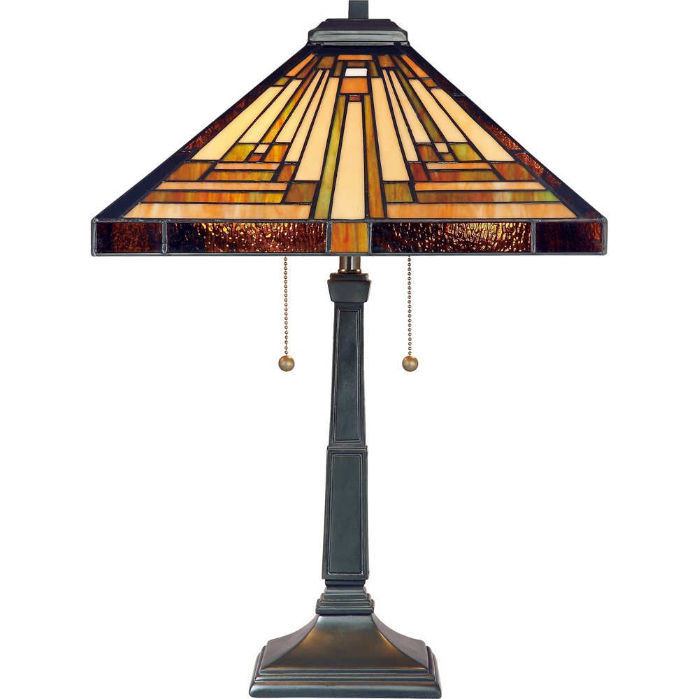 Quoizel Tf885t Stephen 2 Light Tiffany Table Lamp Vintage