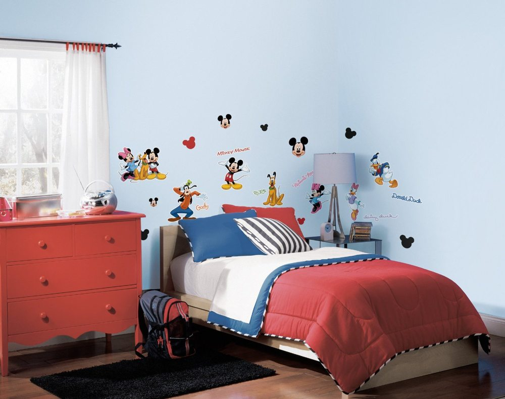 Amazon roommates rmk1507scs mickey and friends peel stick bring mickey and friends to your childs room view larger amipublicfo Image collections