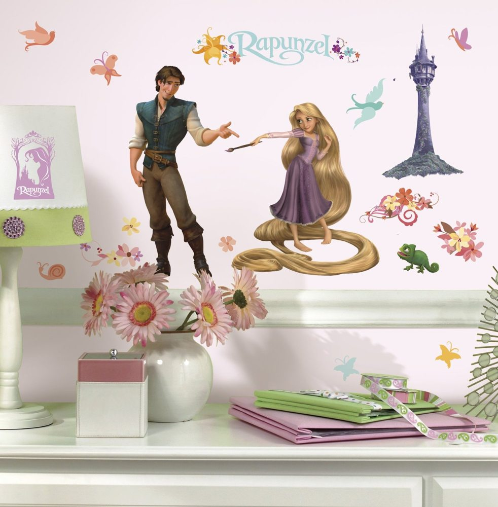 Gorgeous Tangled Themed Guest Rooms At Tokyo Disneyland: RoomMates RMK1524SCS Rapunzel Peel