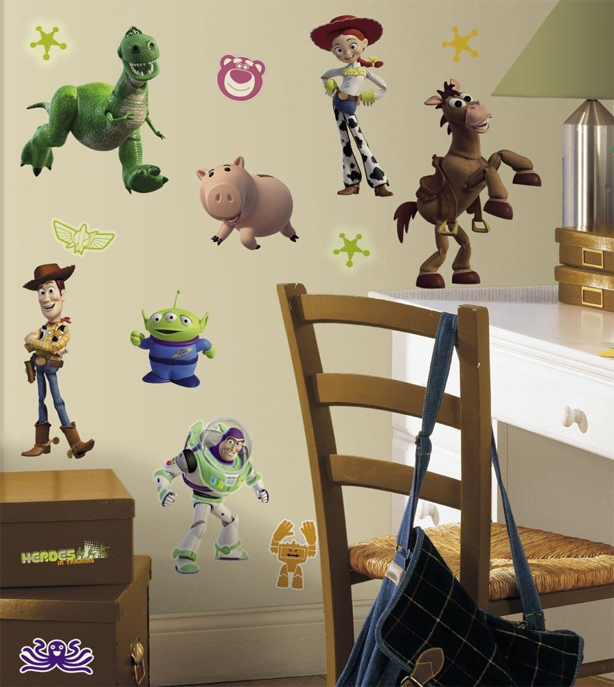 roommates rmk1428scs toy story peel stick wall decals glo in larger