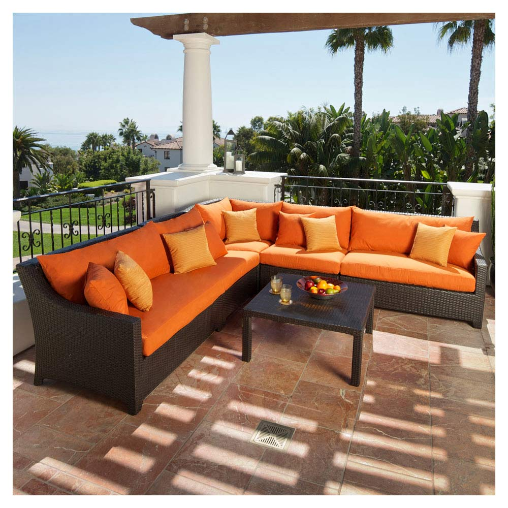 Amazoncom  RST Outdoor Cantina Corner Sectional With Coffee - Rst outdoor furniture