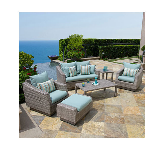 Amazon Com Rst Brands 6 Piece Cannes Modular Sectional Sofa Patio
