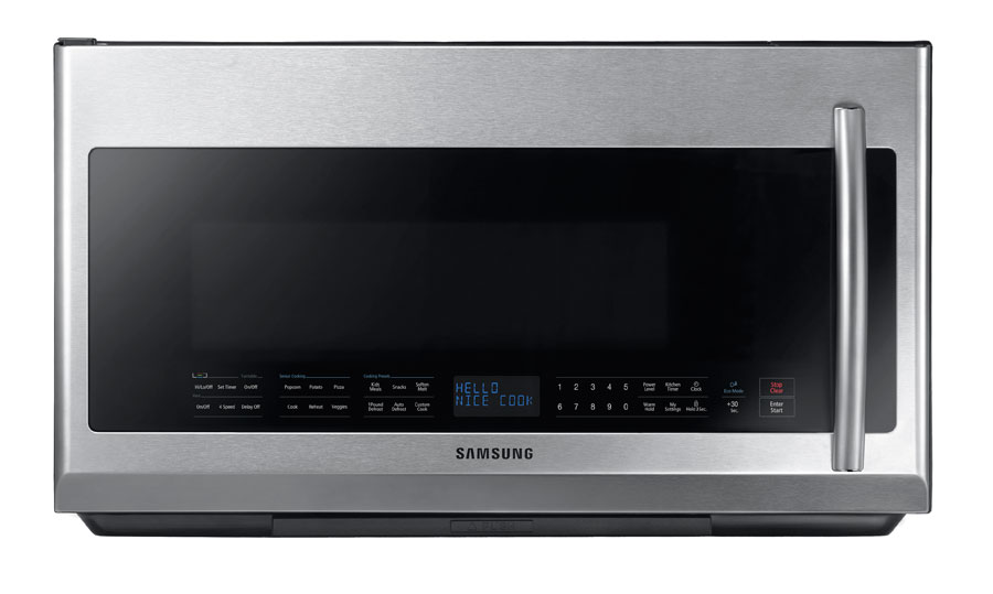 Amazon.com: Samsung me21 F707over-the-range Microondas, 2.1 ...
