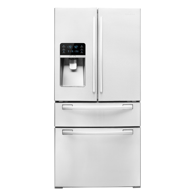 Samsung White French Door Refrigerator With FlexZone Drawer Product Shot