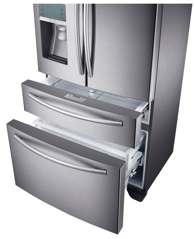 Samsung Stainless Steel Counter Depth 4 Door Refrigerator With FlexZone  Drawer Product Shot