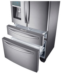 Samsung Stainless Steel Counter Depth 4-Door Refrigerator with FlexZone Drawer Product Shot