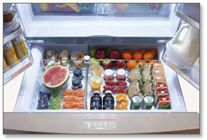 Samsung Stainless Steel French Door Refrigerator with FlexZone Drawer Product Shot