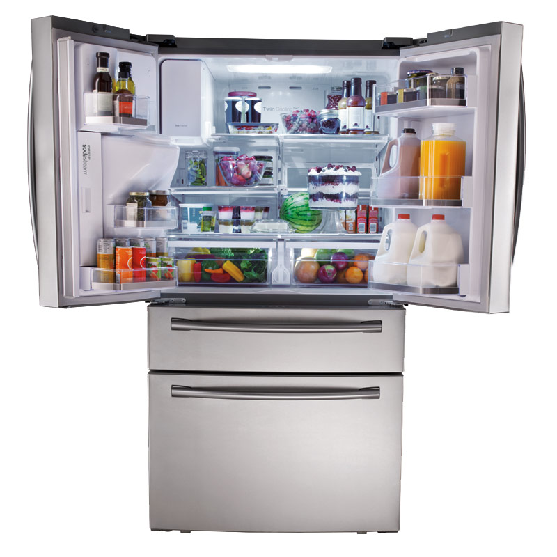 Samsung 4-Door Refrigerator with Automatic Sparkling Water Dispenser ...
