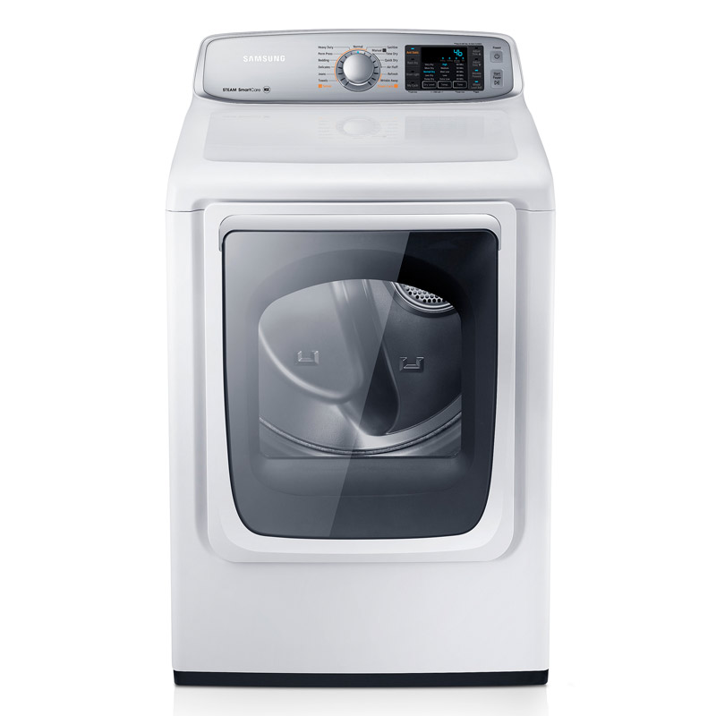 samsung 74 cu ft capacity neat white electric front load dryer with steam dry