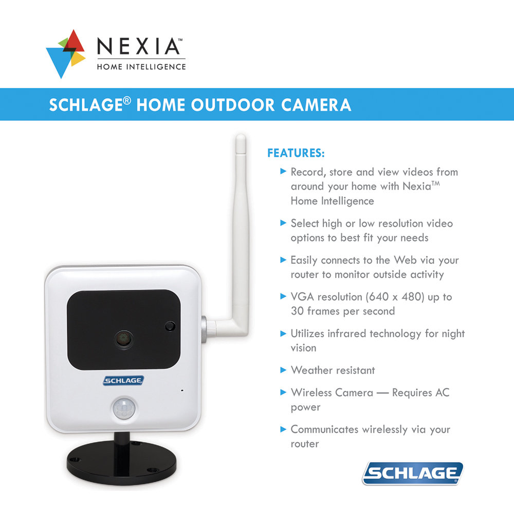 Amazon Com Schlage Wco100nx N N Sl Home Outdoor Camera