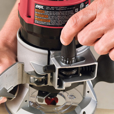 skil plunge router. soft-grip handles and a micro-fine adjustment make the skil 1817 fixed-base router easy to control (click each enlarge). plunge m
