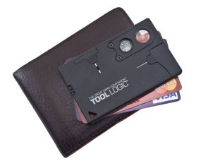 "Trend Shopping Online Tool Logic Credit Card Companion with Lens/Compass CC1SB - 9 Tools, Black, 2"" Blade"