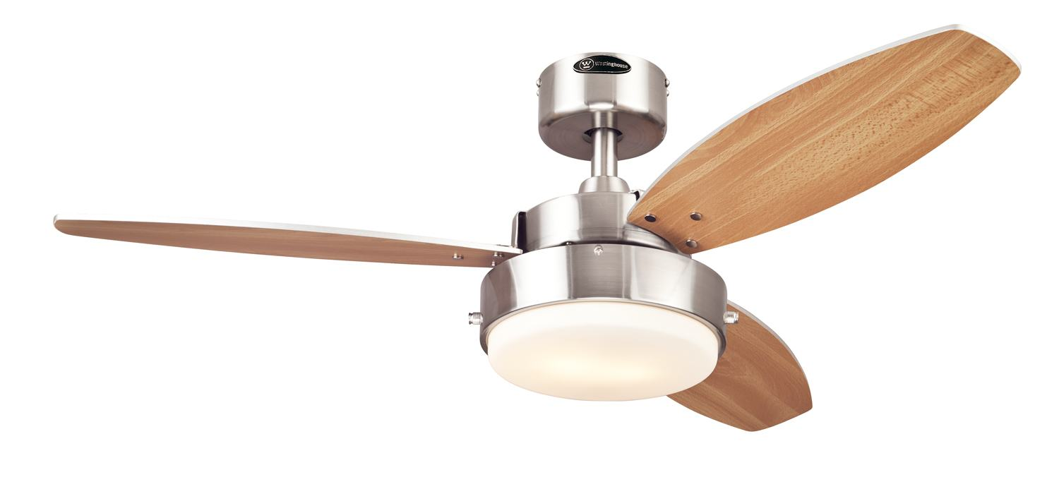 Amazon Com Westinghouse 7247300 Alloy Two Light Reversible Three Blade Indoor Ceiling Fan 42