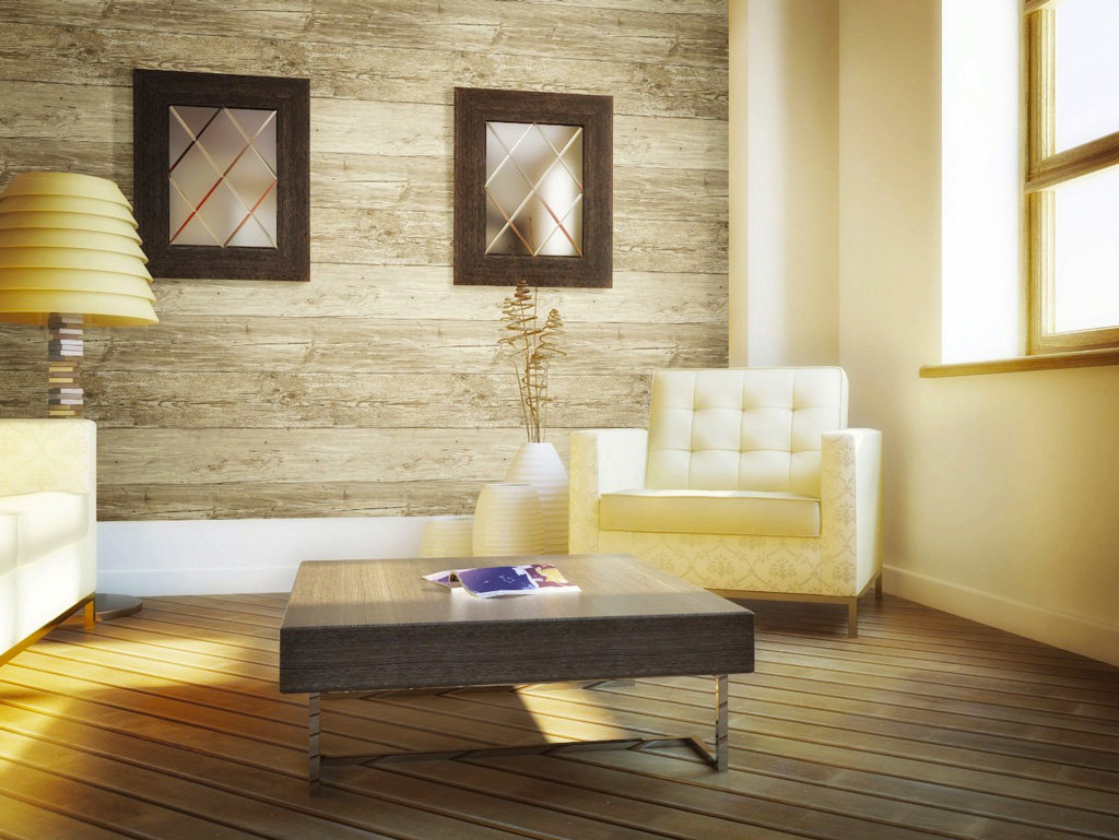 Wall in a box wib1010 weathered wallpaper ash pine oak for Wallpaper for living area