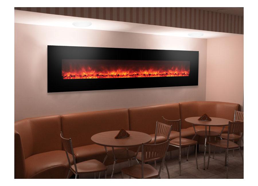 Electric Fireplace electric fireplace insert amazon : Amazon.com: Yosemite Home Decor DF-EFP1313 Contemporary Wide Glass ...