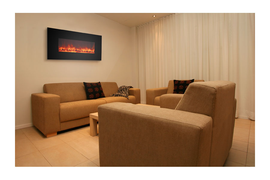 Electric Fireplace electric fireplace insert amazon : Amazon.com: Yosemite Home Decor DF-EFP900 Small Glass Wall Hang ...