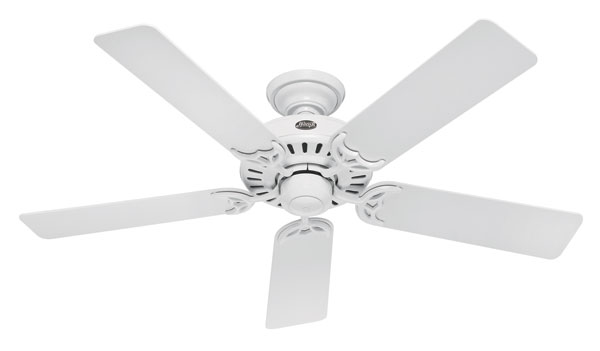 Hunter 25517 summer breeze 52 inch 5 blade ceiling fan white with hunter 25517 summer breeze ceiling fan aloadofball Choice Image